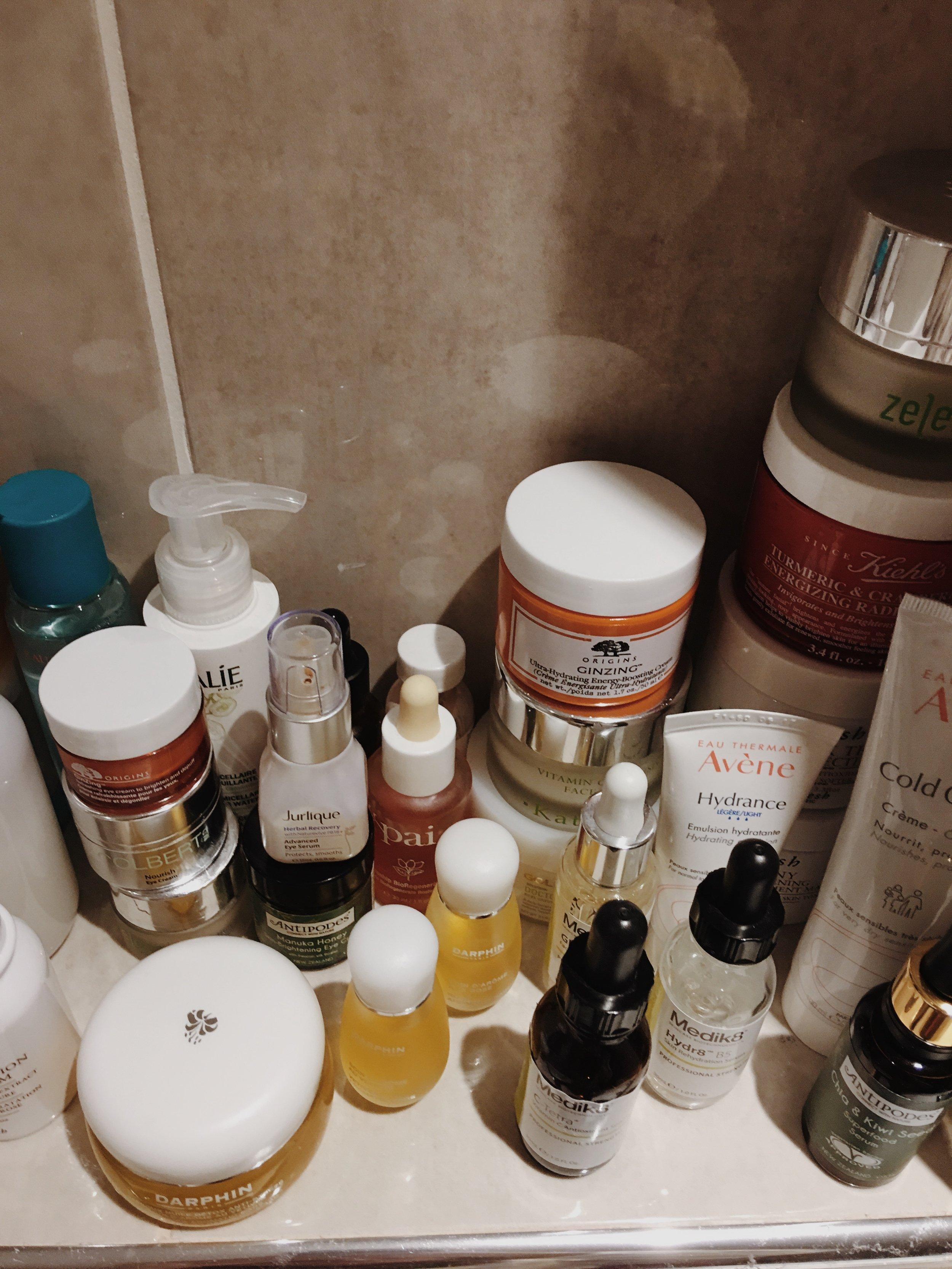 Bathroom Shelf Skincare