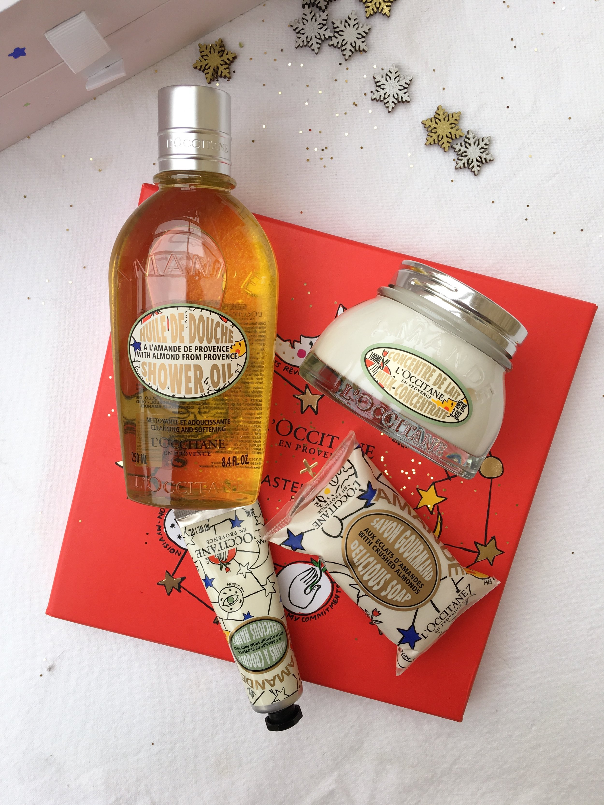 L'OCCITANE ALMOND BODY RANGE - AMOUR OPHELIA