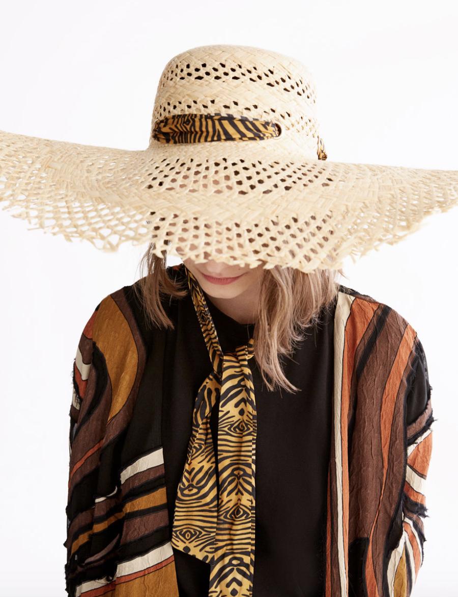 Uterque Zebra Band Hat