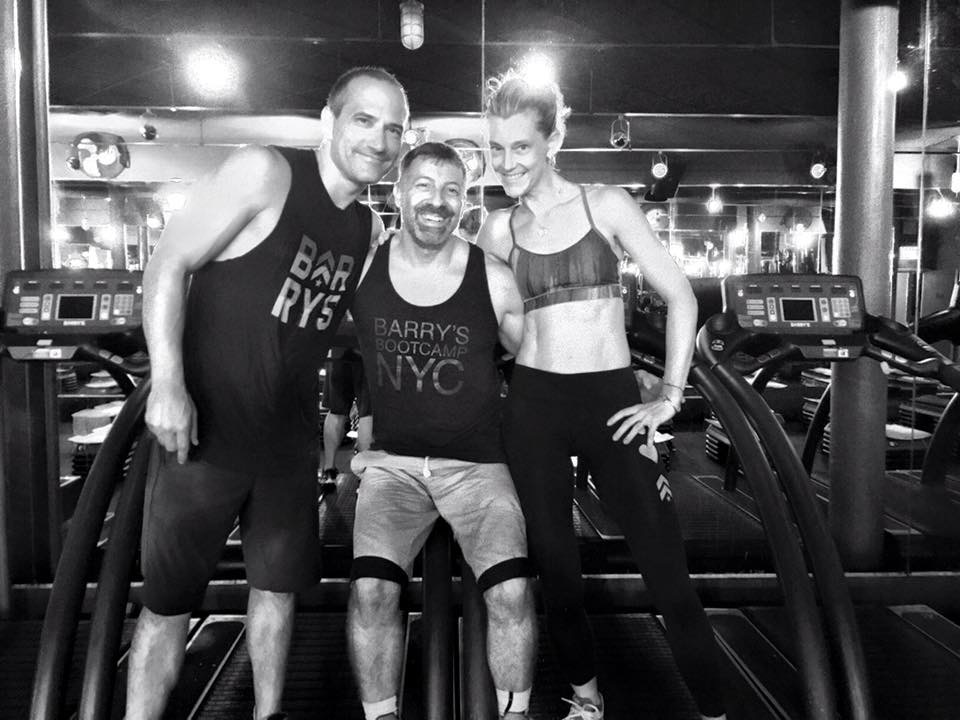 Barry Jay, Founder Barry's Bootcamp, center