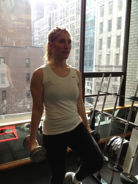 Niko working out right before her cancer diagnosis