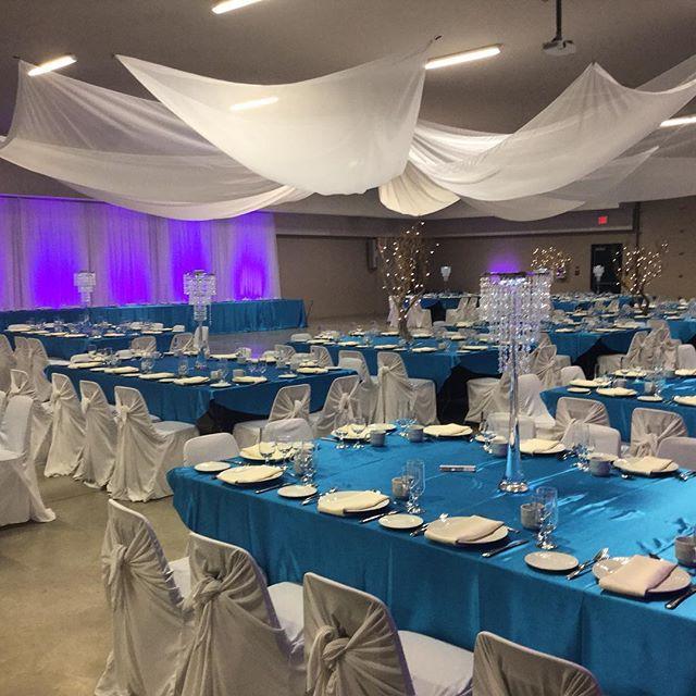 #tent #wedding #decorationsbyrick #rustic #wonderfulwedding #sequence #fabric #stunning #decor #decoration #reception #chairs #ceilingswag #beautiful #banquet #hall #winnipeg #manitoba #wonderfulwinnipeg #winnipegweddings #canada