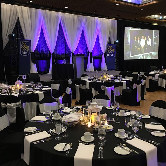 Royal Bank Gala for mortgage specialists at theRBC Center. Thank you for trusting me with your event.  Black and White is always timeless.
