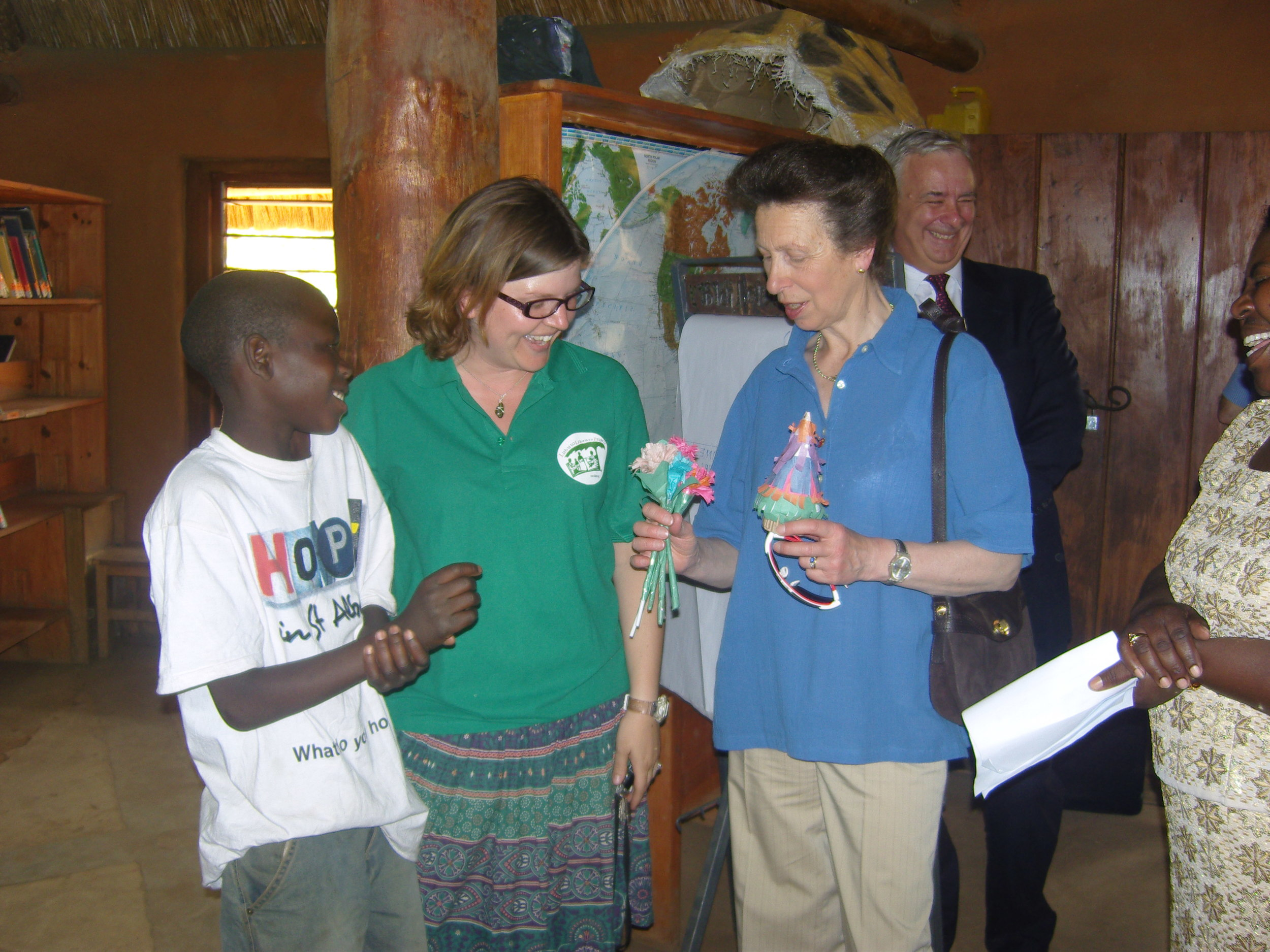 Princess Anne visits the Fountain of Hope Lubuto Library