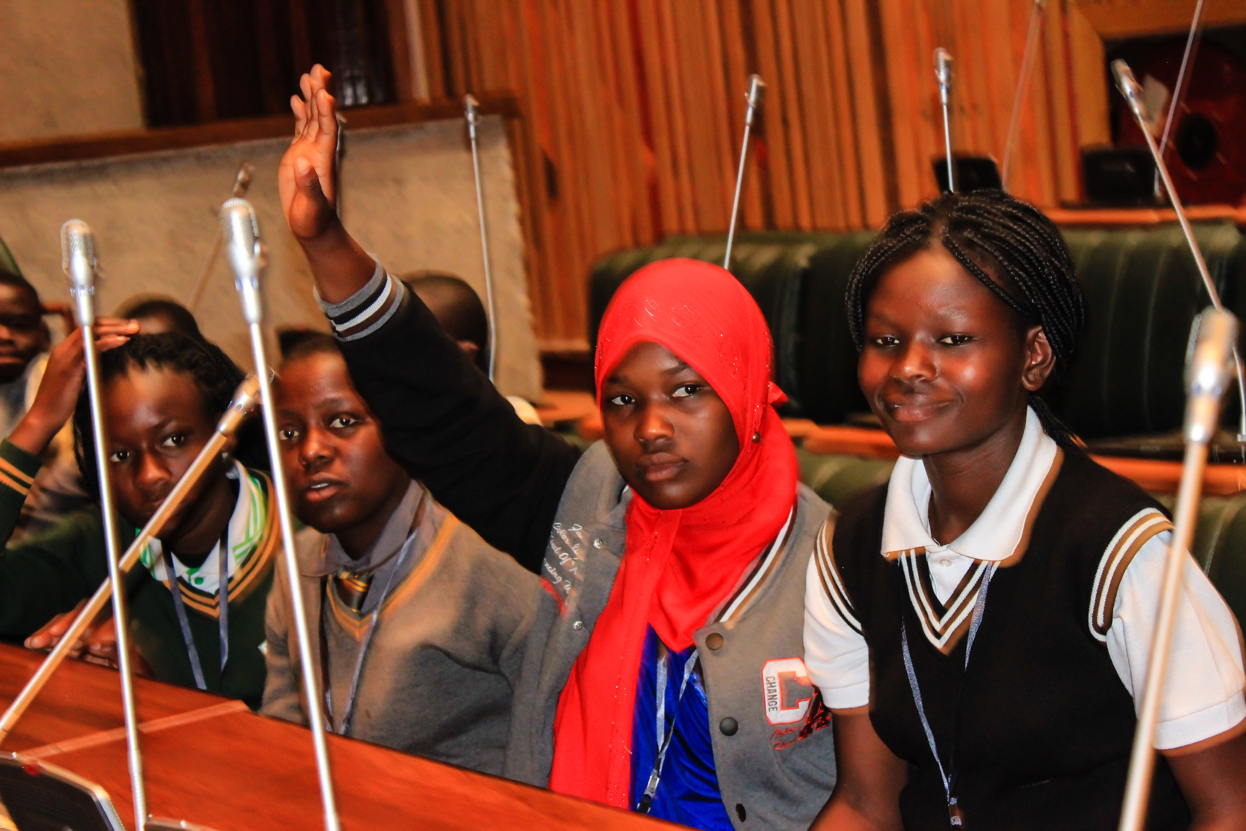 DREAMS girls visit the Zambian Parliament Chamber, April 26, 2017