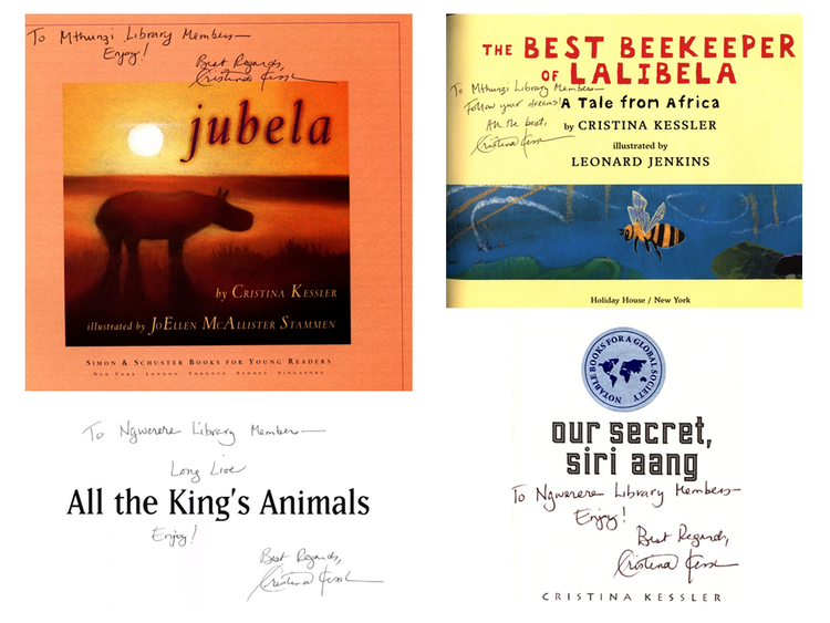 Jubela ,  The Best Beekeeper of Lalibela ,  All the King's Animals , and  Our Secret, siri aang  by Cristine Kessler