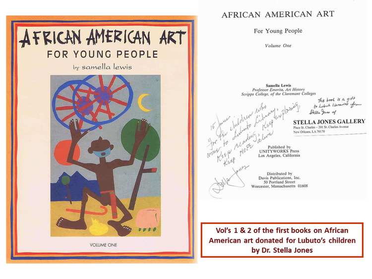 African American Art For Young People  by Samella Lewis and donated by Dr. Stella Jones