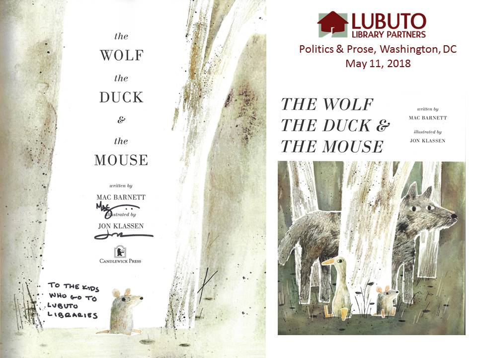 the Wolf the Duck & the Mouse  by Mac Barnett & Jon Klassen