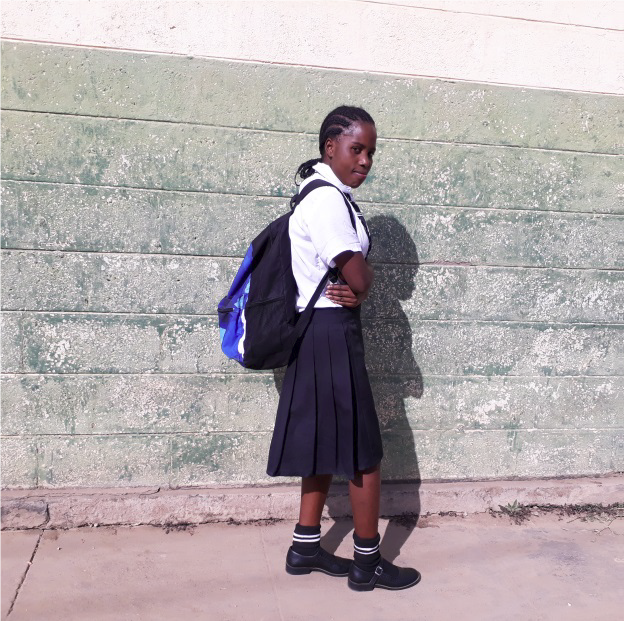 Finally back in school, Annastasia has joined the DREAMS program at the Lubuto Library and has support to pay for school fees, books, shoes and her school uniform.