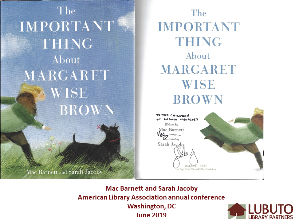 The Important Thing about Margaret Wise Brown  by Mac Barnett and Sarah Jacoby