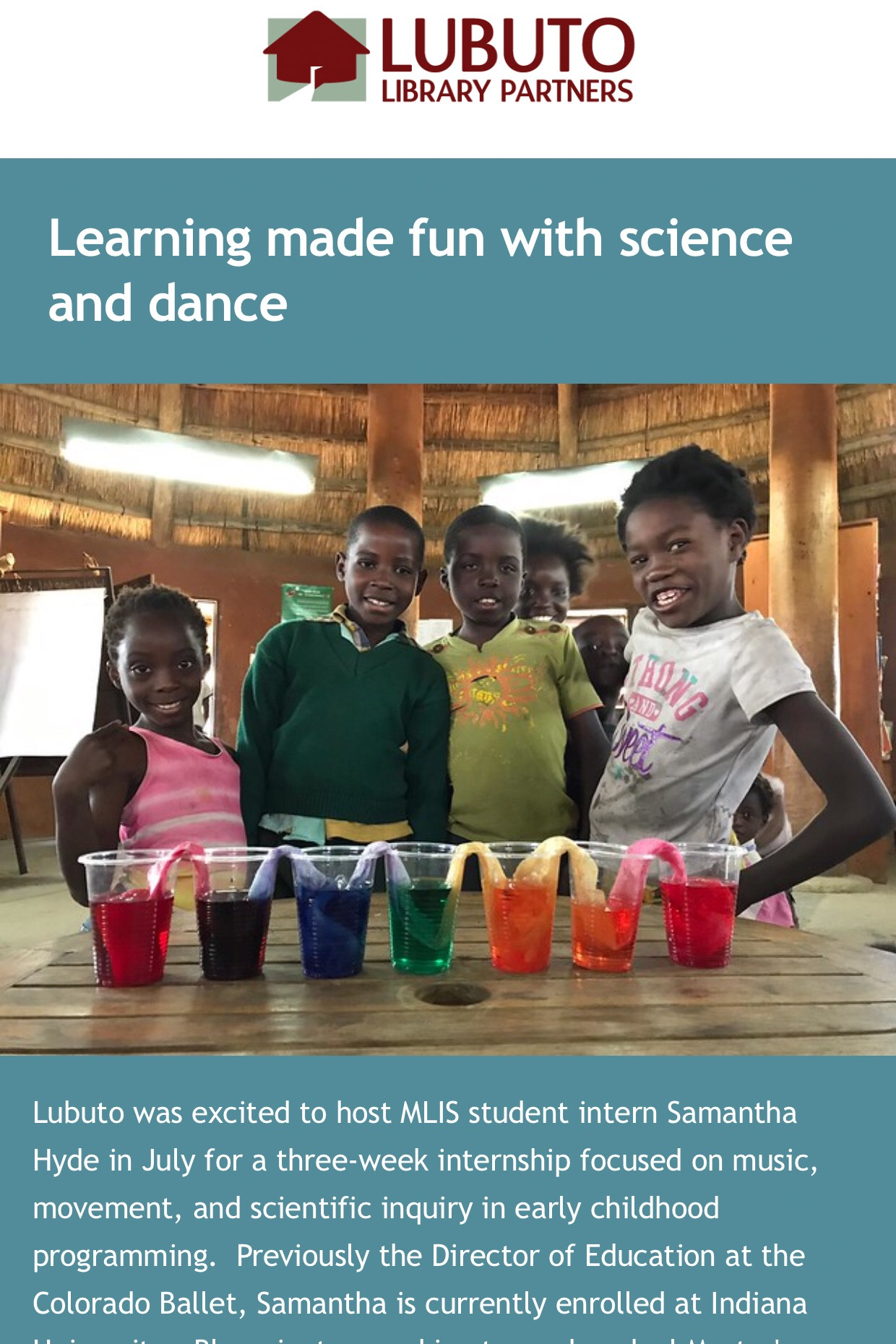 Learning made fun with science and dance
