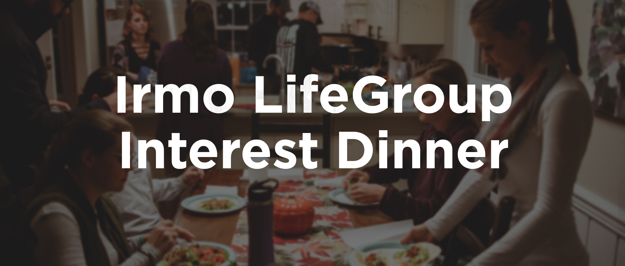 Live in the Irmo or Chapin area? We want to plant a LifeGroup in the area and would love to have you join us for an interest dinner. We'll provide the food so just rsvp and show up!