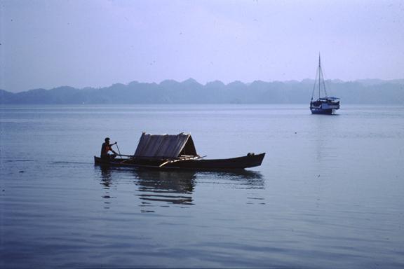 Boat Hut. West Papua Indonesia 1995 © Kalman N. Muller