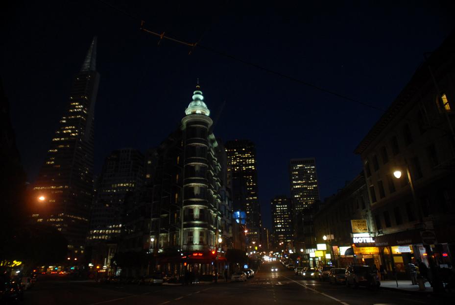 Sentinel Building at Night. San Francisco California 2012 © Kalman N. Muller