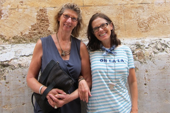 Susan and Mary in Menorca