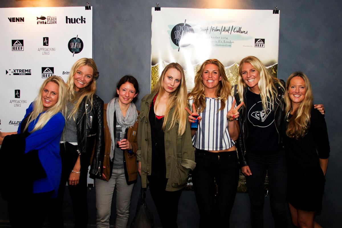 Demi at LSFF 2014 with Laura Enever Whitney Gilmore, Isabel Freeman, Ava Warbrick, Elsie Pinniger and Steph Gilmore