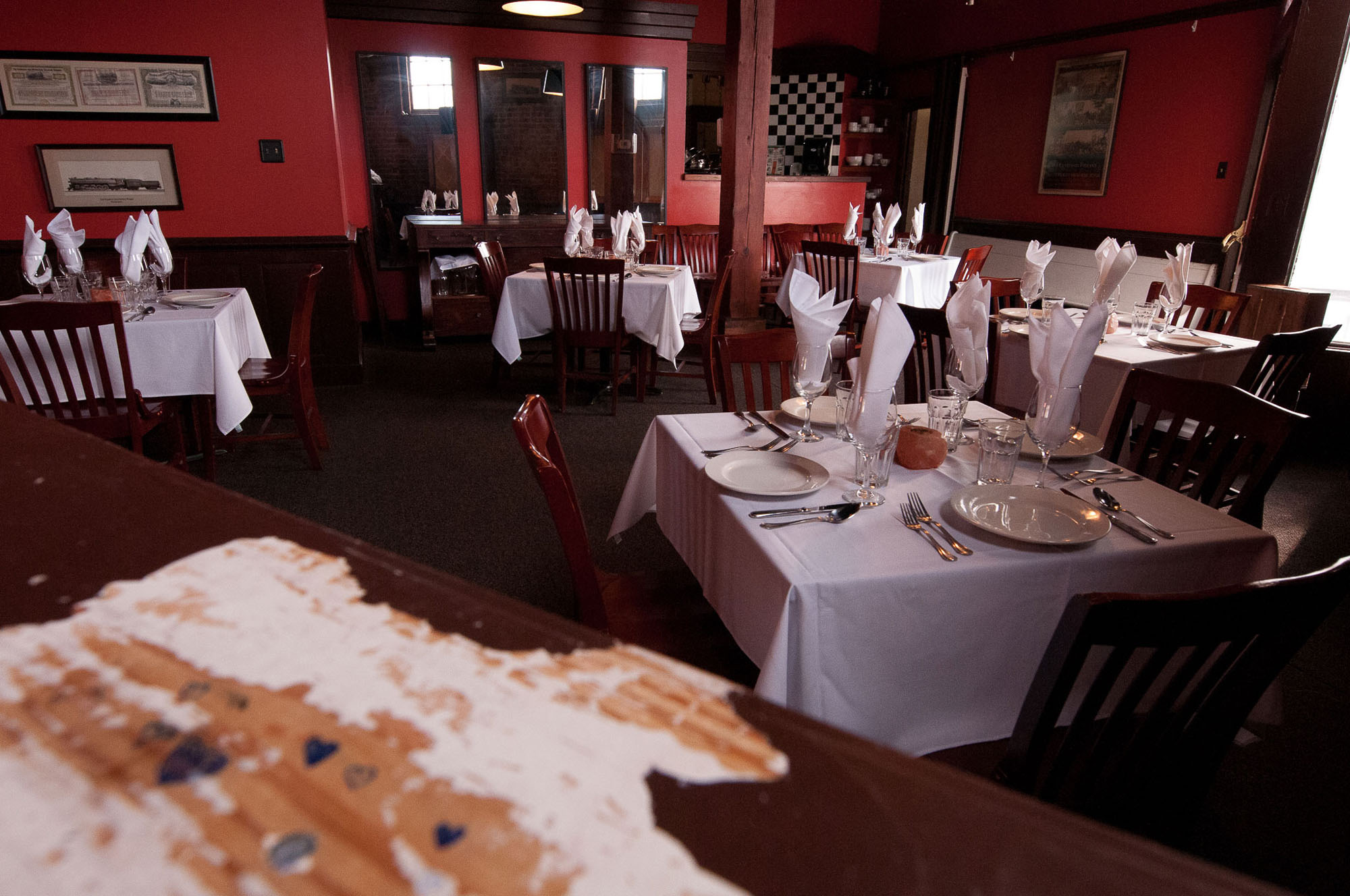 Private Dining Room - Seating up to 24For an intimate experience, ultimate surprise party location or a place to quietly thank your team, the IRON HORSE can accommodate up to 24 seated guests in our private dining room or up to 50 for a standing cocktail reception. Whether you need quiet or want to make a little noise, the IRON HORSE's Calvert Room can host your power breakfast, campaign meeting, rehearsal dinner, cast party, or good old-fashioned birthday. Menu options may be drawn from our current menus or custom built to your tastes.