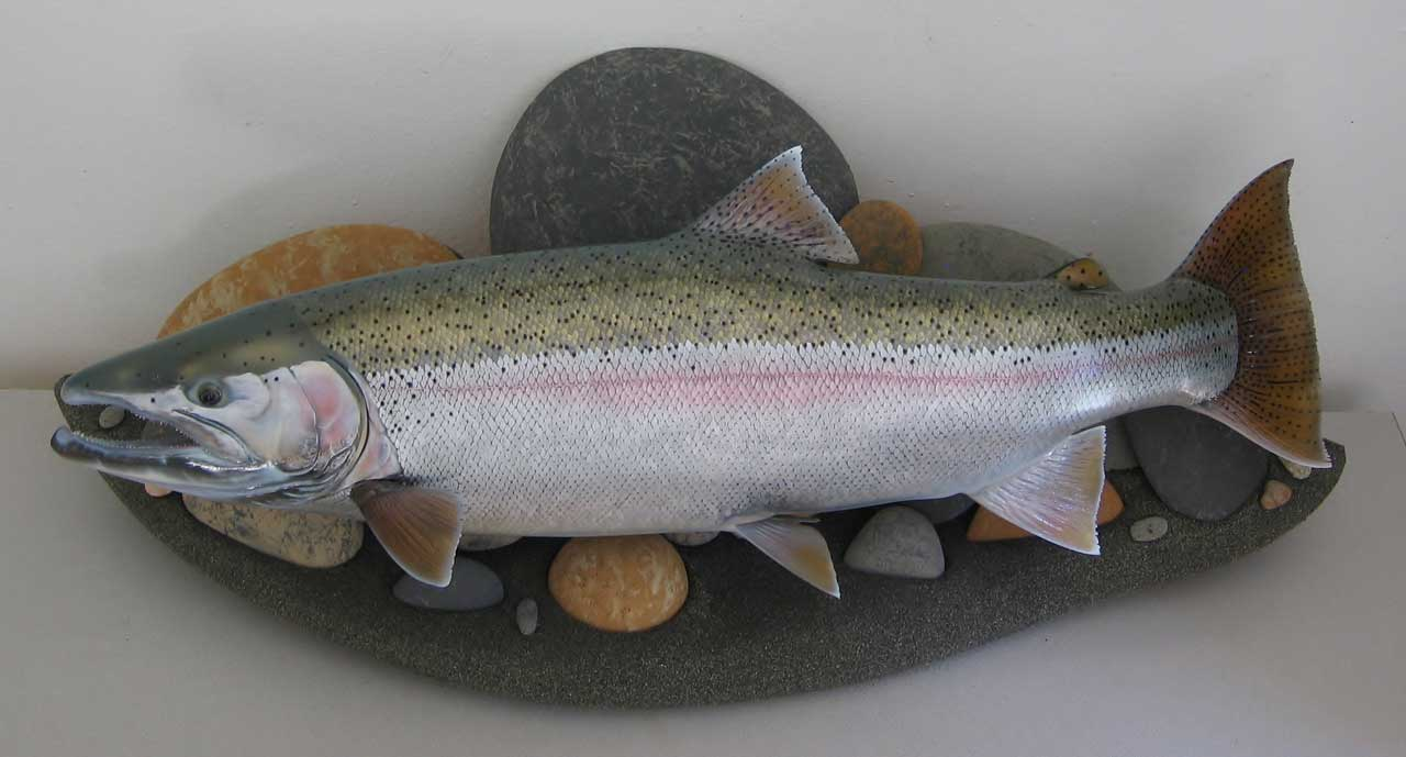 Hoh River Steelhead fish art replica sculpture Luke Filmer Blackwater replicas