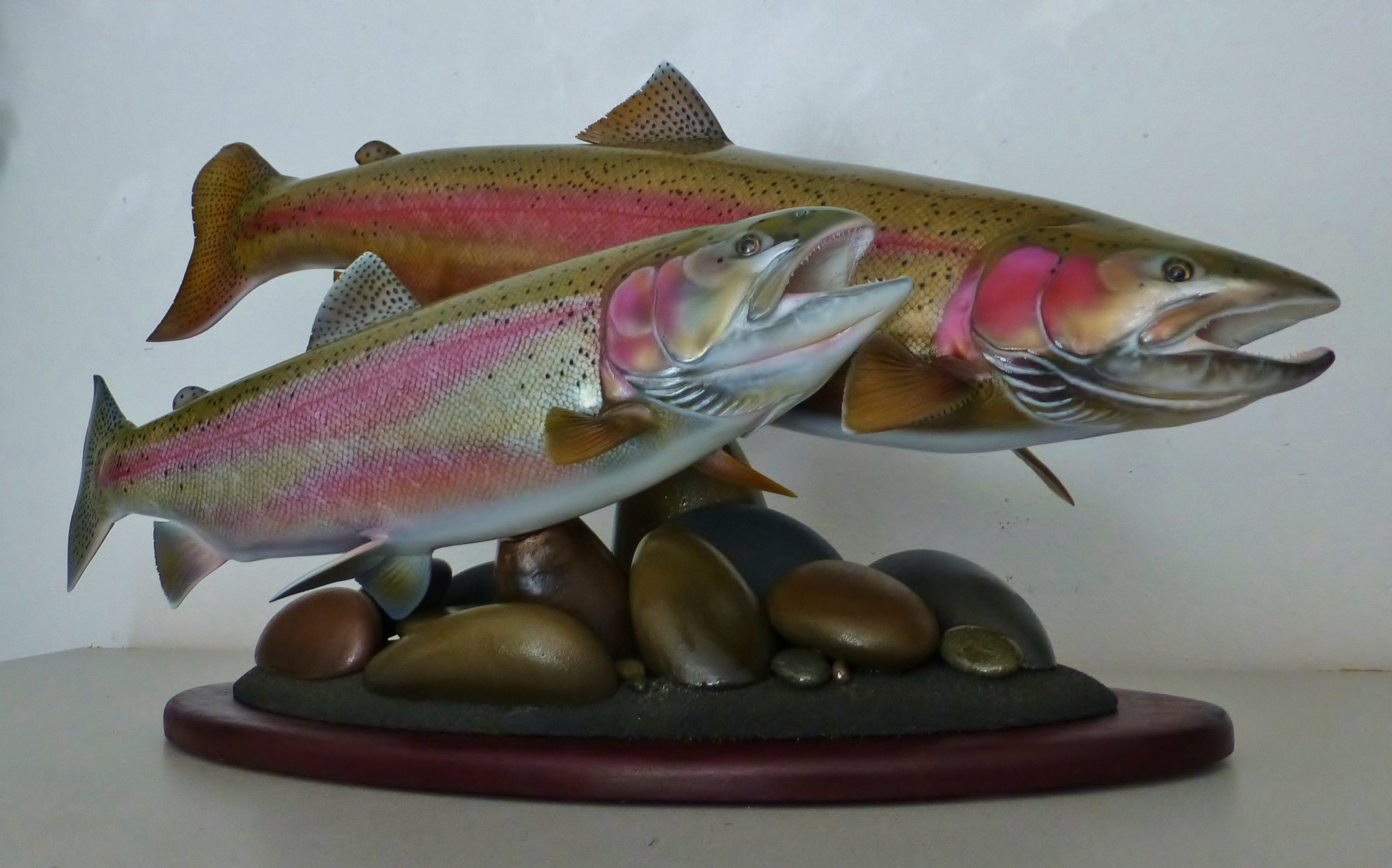 Idaho Seelhead fish art replica sculpture Luke Filmer Blackwater replicas