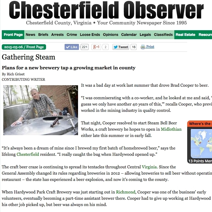 Chesterfield Observer, May 2015