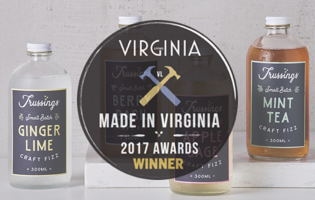 We are so proud of our sister company, @trussingscraftfizz, on winning @virginialiving's Made In Virginia award celebrating innovation and entrepreneurship. If you haven't had a chance to taste these craft fizzes in our tasting room yet, they'll be poured at several @fireflourfork events this week/weekend. Check out the Trussings Insta profile/Facebook page for more info! 🍻