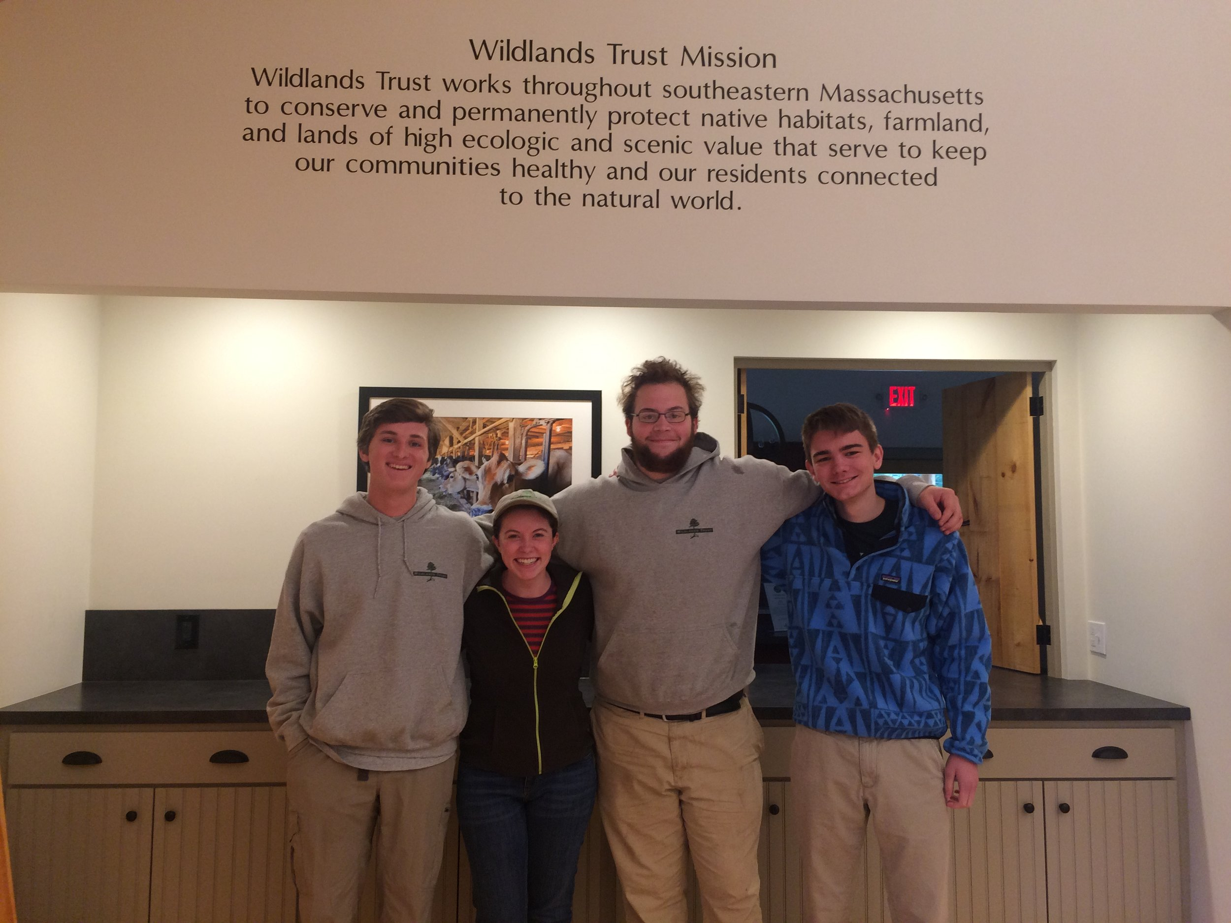 From the Left: Hugh Grey, Maura Coughlin, Ryan Duty, and Hunter Wiese