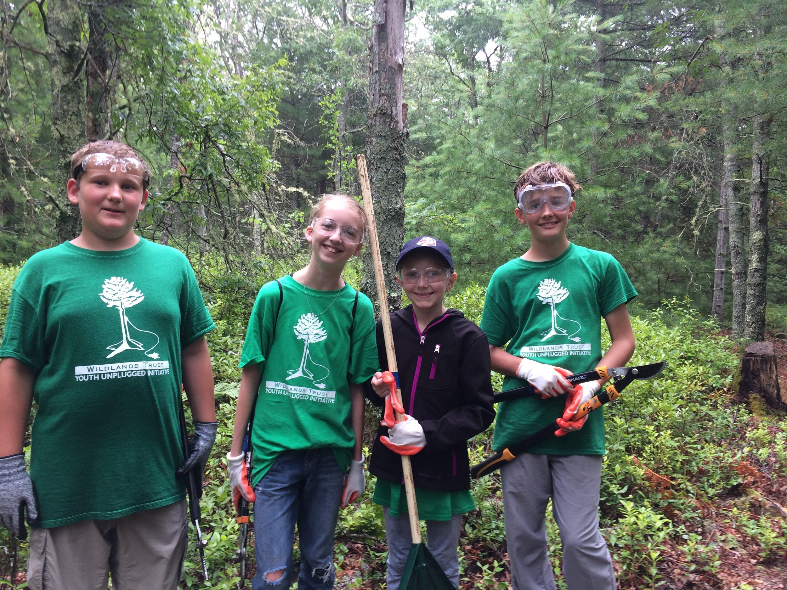 Day One: Trail cutting at Pickerel Pond Preserve and Emery Preserve, Plymouth