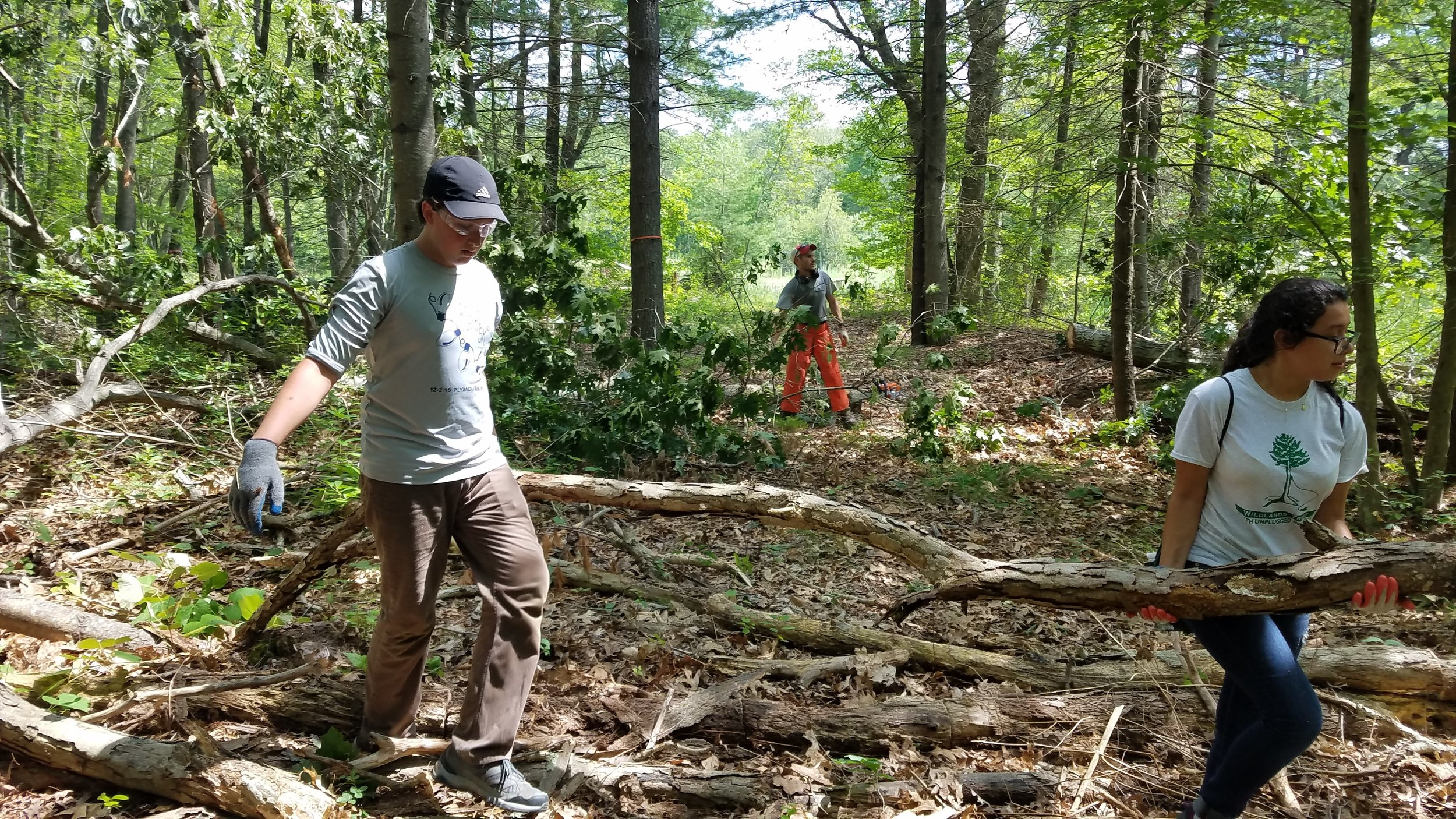Day Three: Trail building at Union Point, Weymouth