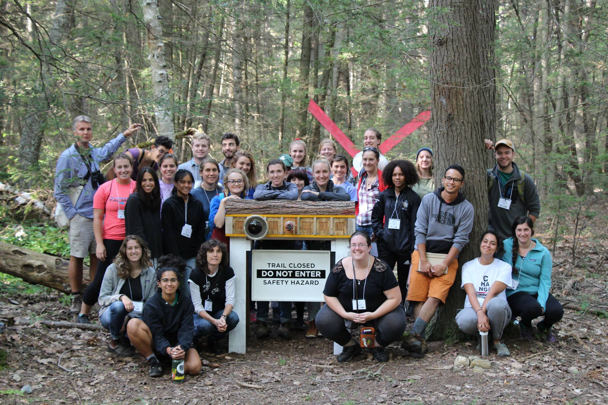 The 2017-18 TerraCorps members at their orientation in August, 2017 after a tour of the Harvard Forest led by Brian Hall