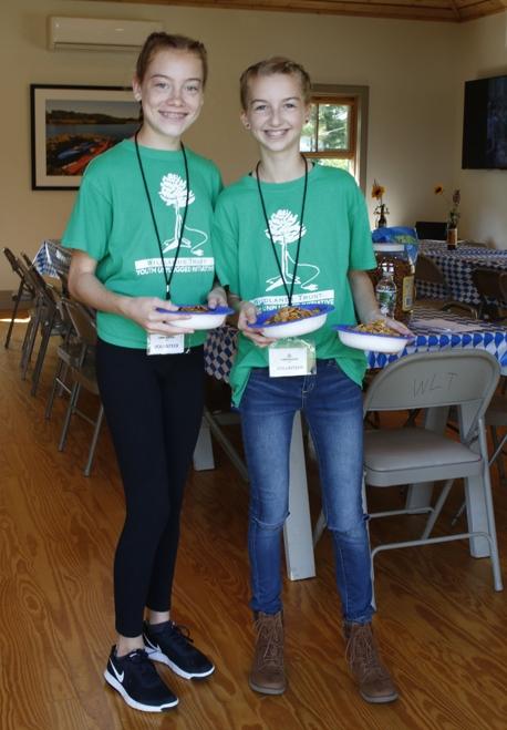 Green Team members Roxie and Jill volunteering at OkTRAILberfest