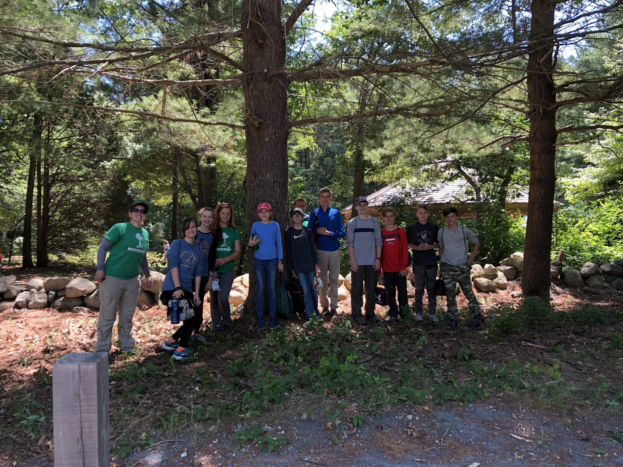 Green Team 1 team members at the South Shore Natural Science Center