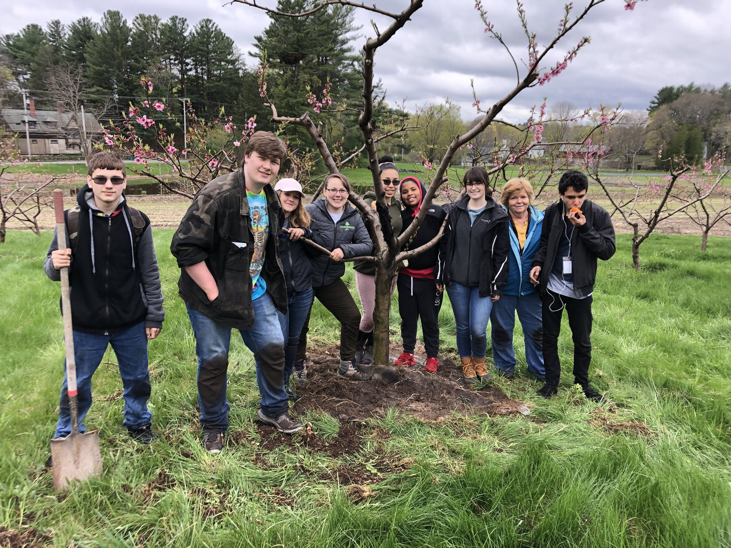 """Envirothon team members get """"out in the field"""" at Langwater Farm in Easton."""