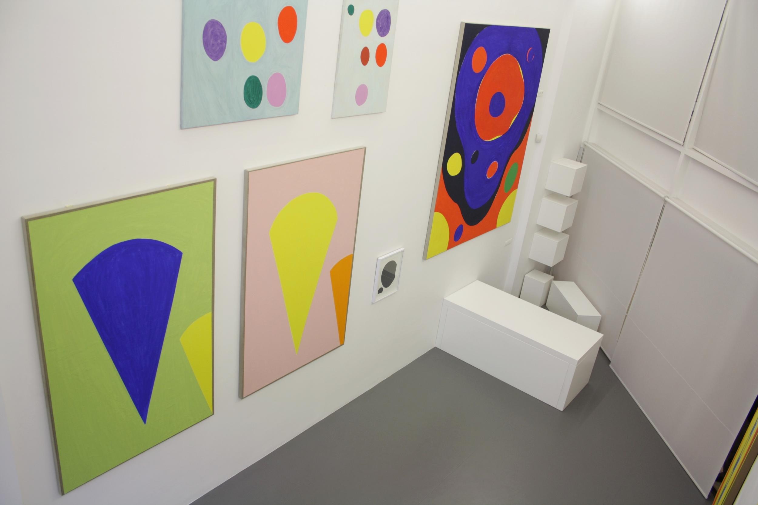 Michel Leonardi.  Three Colour Environments. Cheerful Vital Paintings  (exhibition view)