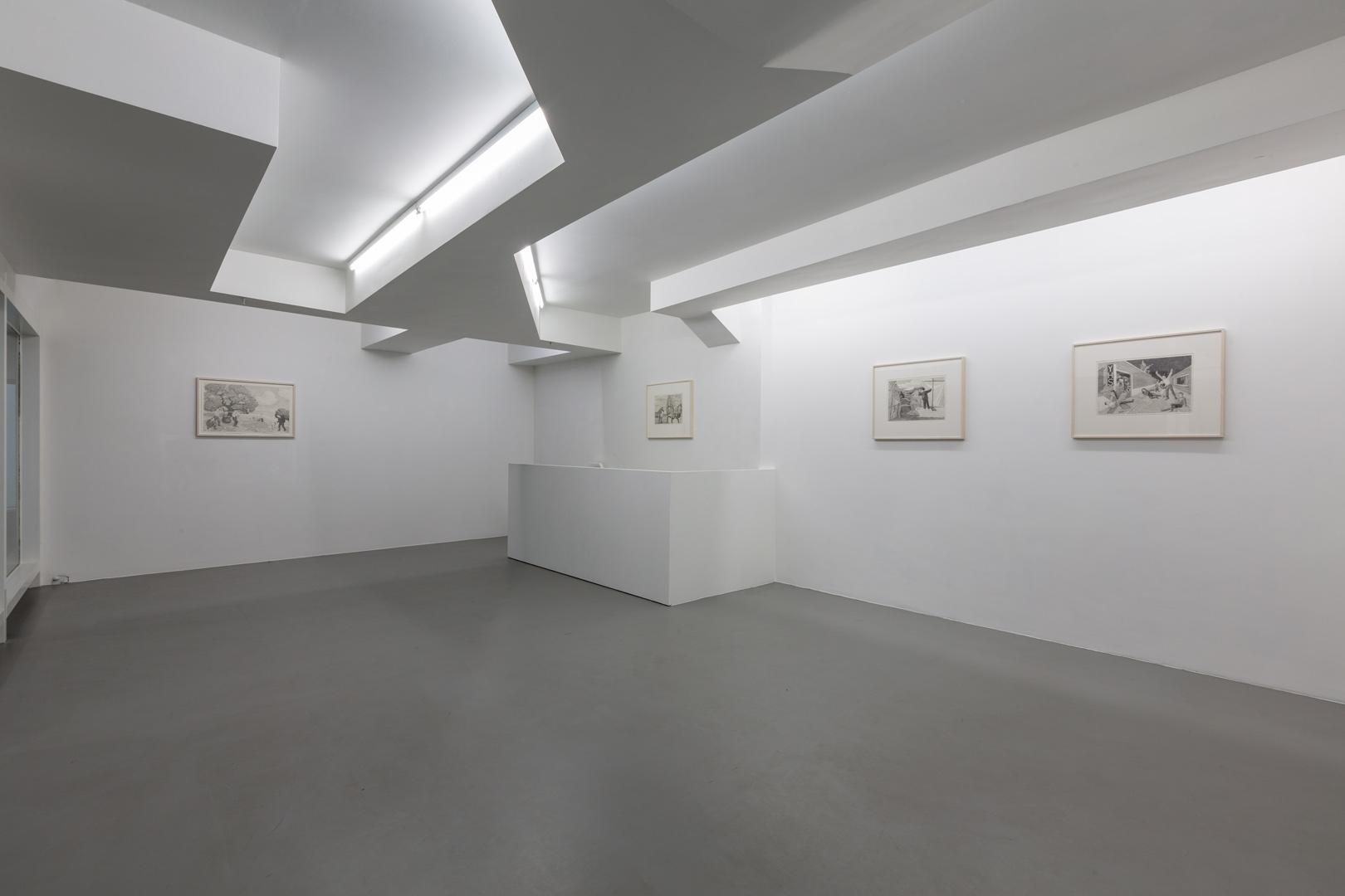 Emmanuel Tête.  Dessinarrer  Exhibition View-Upper Floor