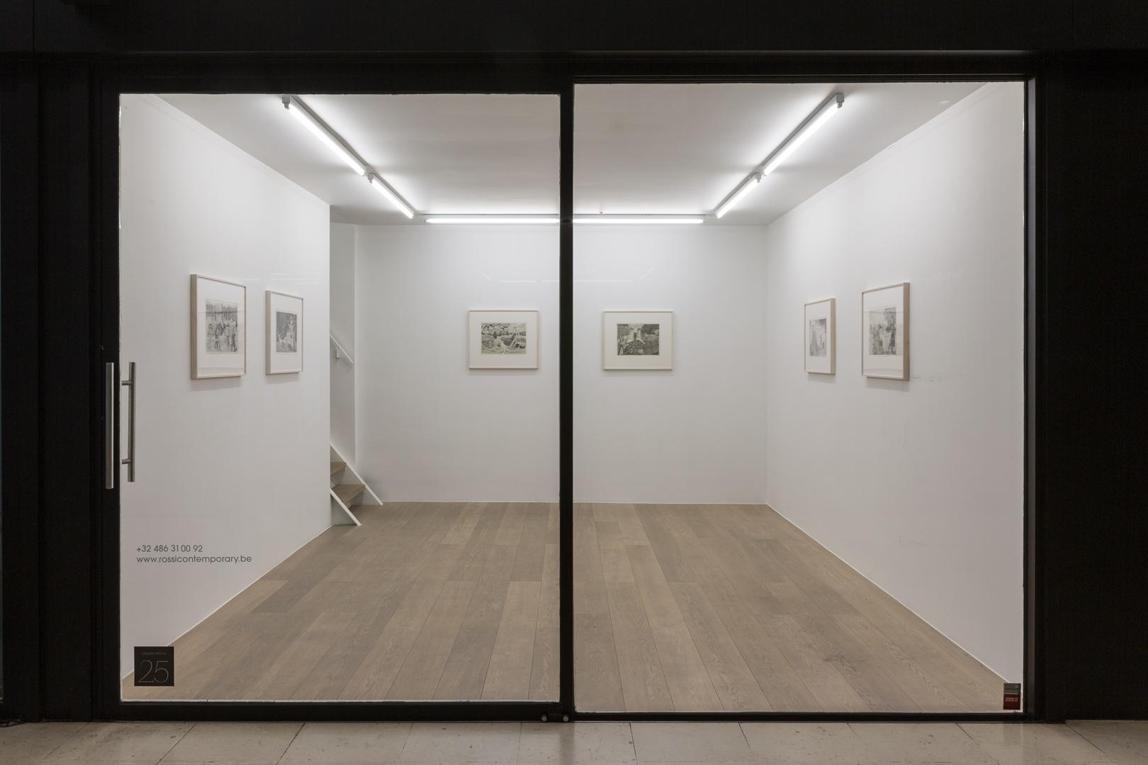 Emmanuel Tête.  Dessinarrer  Exhibition View-Ground Floor