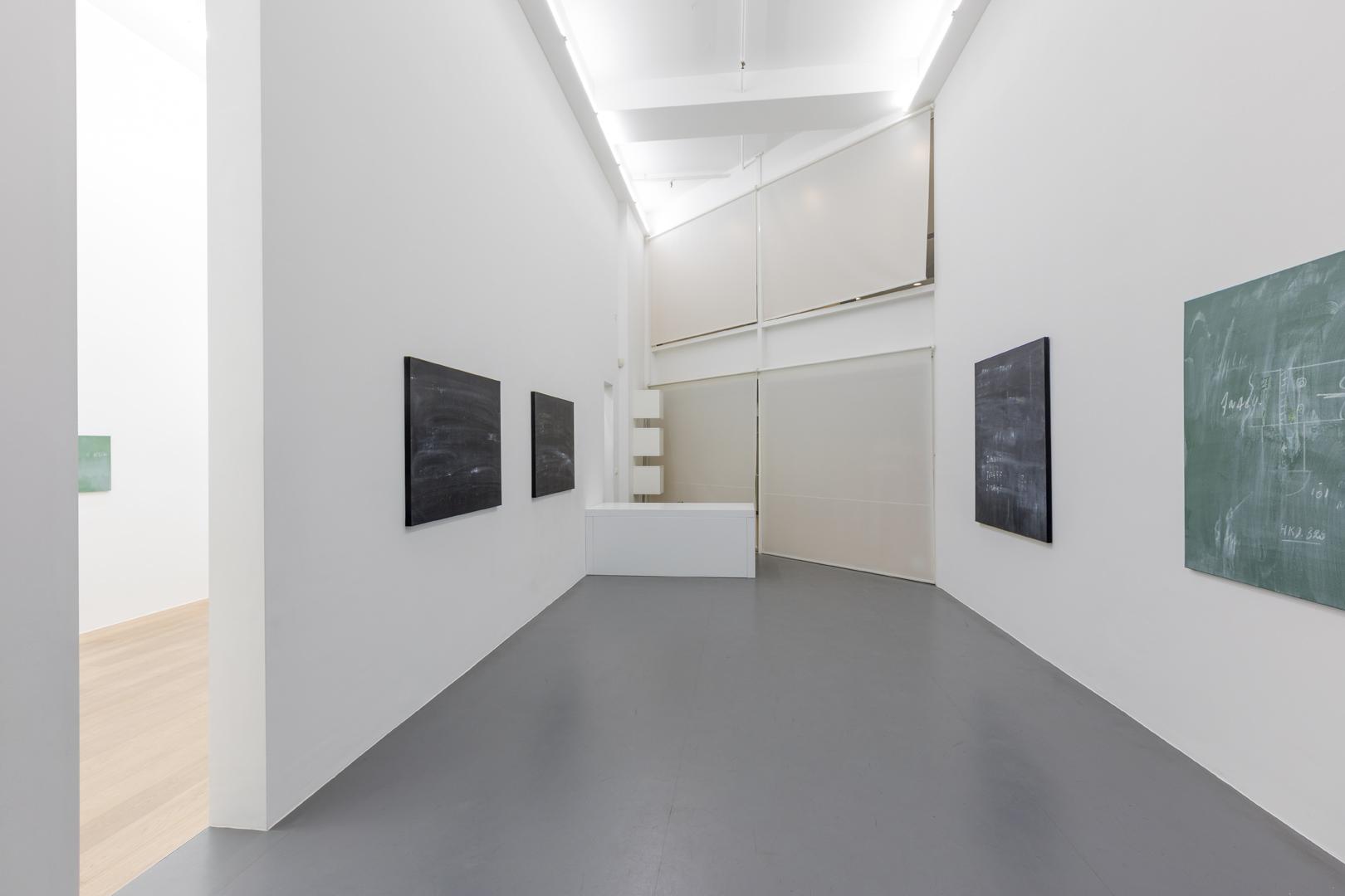 Alain Bornain. Blackboards Exhibition view. Room 1