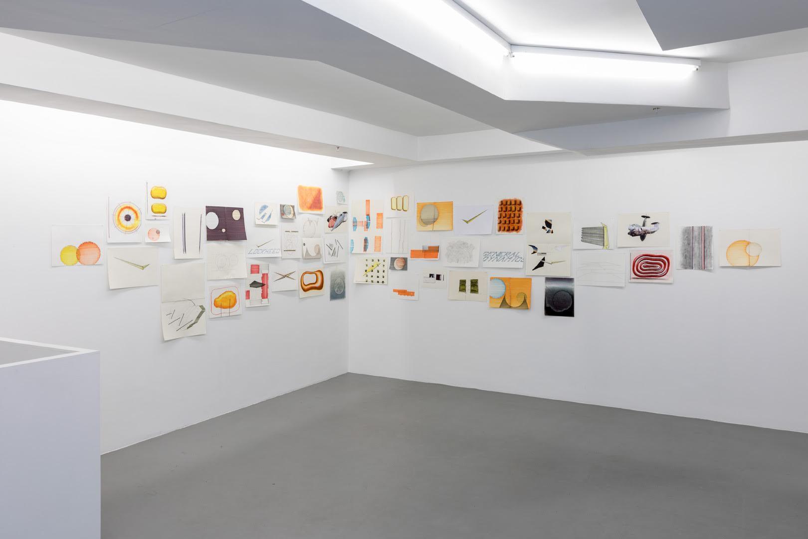 Manu Engelen.  Background  Exhibition view (detail)