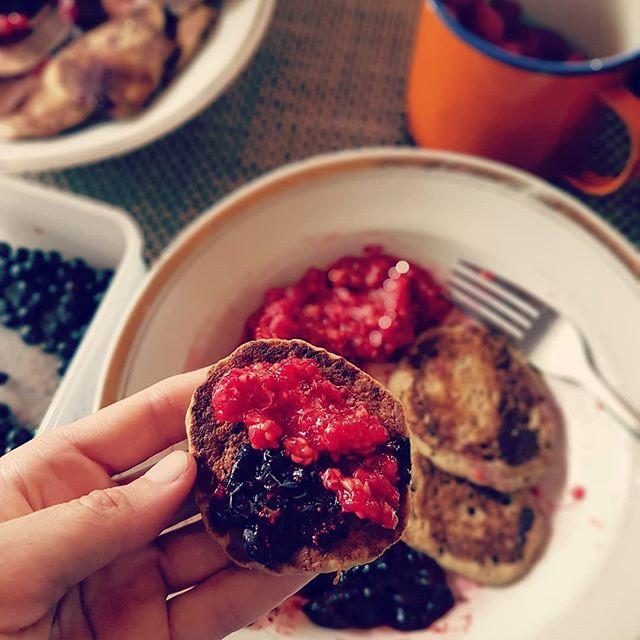 Nii lihtne hetk, kuid nii palju häid emotsioone 😌  #perfectveganpancakes #blueberries #rasberries #pannkoogid #mustikad #vaarikad #parimaeg #suvi2018 #maaelu #maaelurõõmud #nomnomm #simplelifehappylife