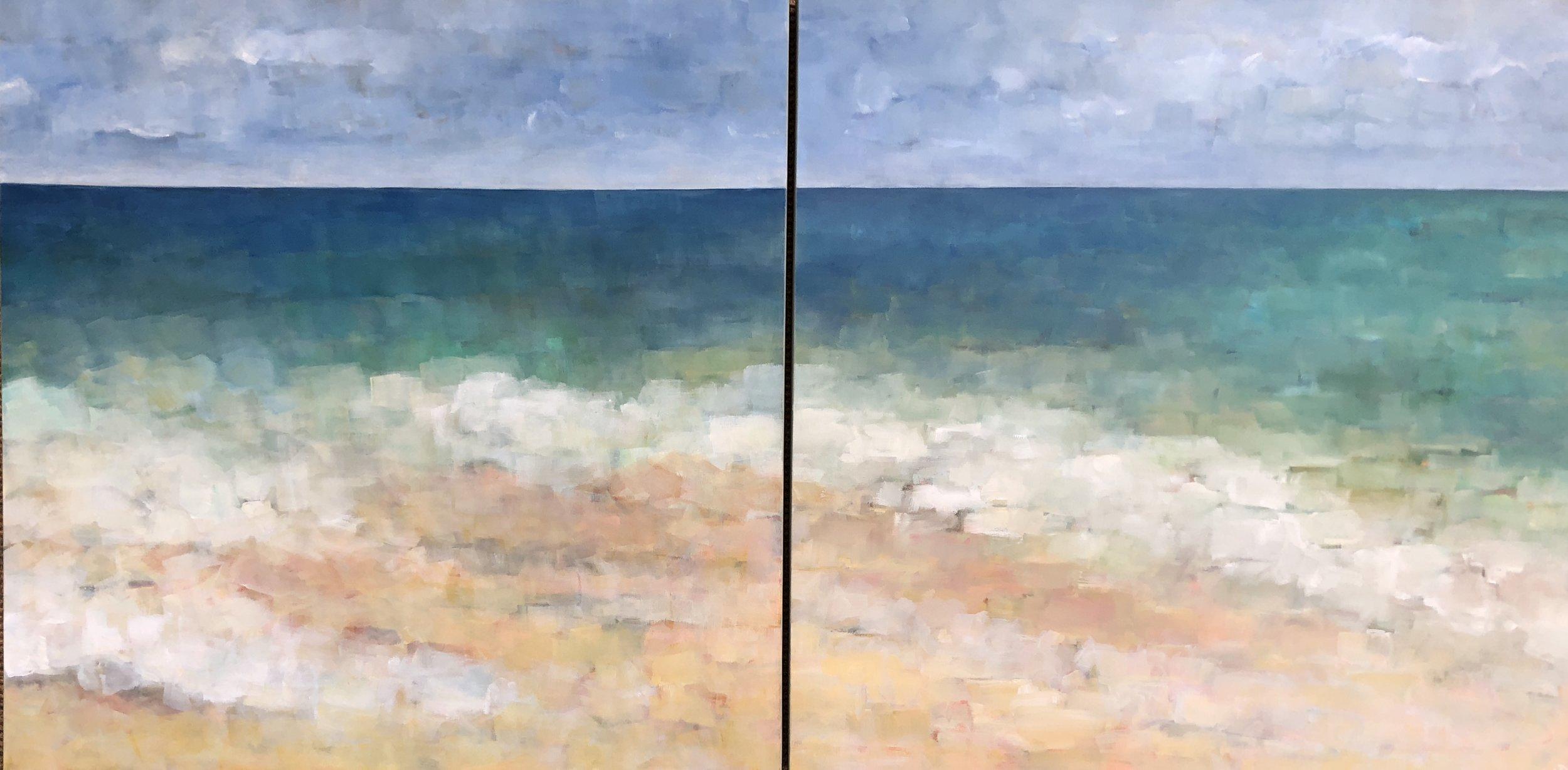 Ocean Diptych - 2018