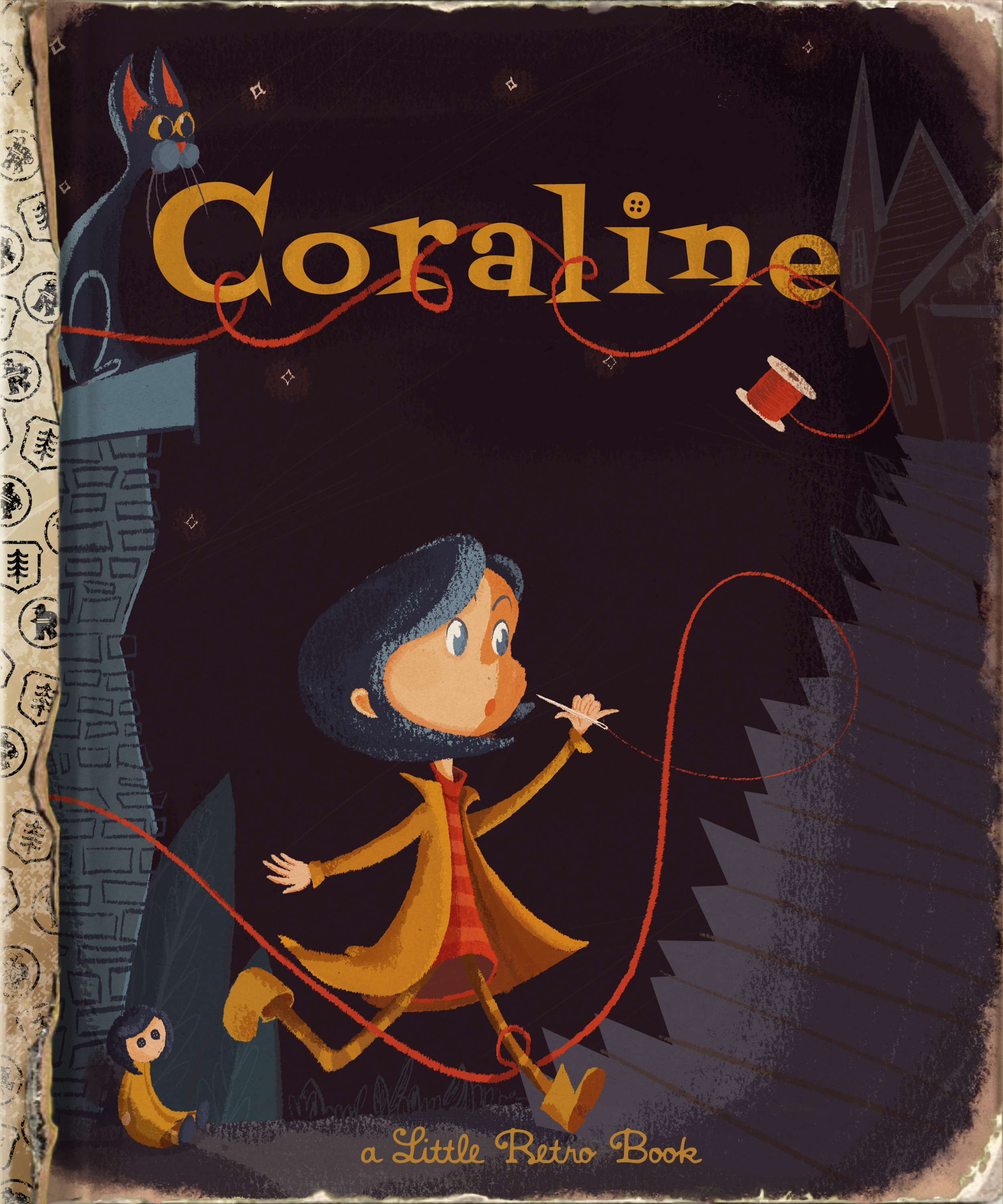 Coraline Golden Book Cover