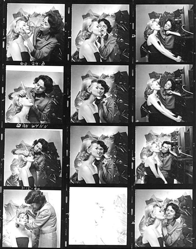 Eileen Ford and Model Sara Thom, 1962
