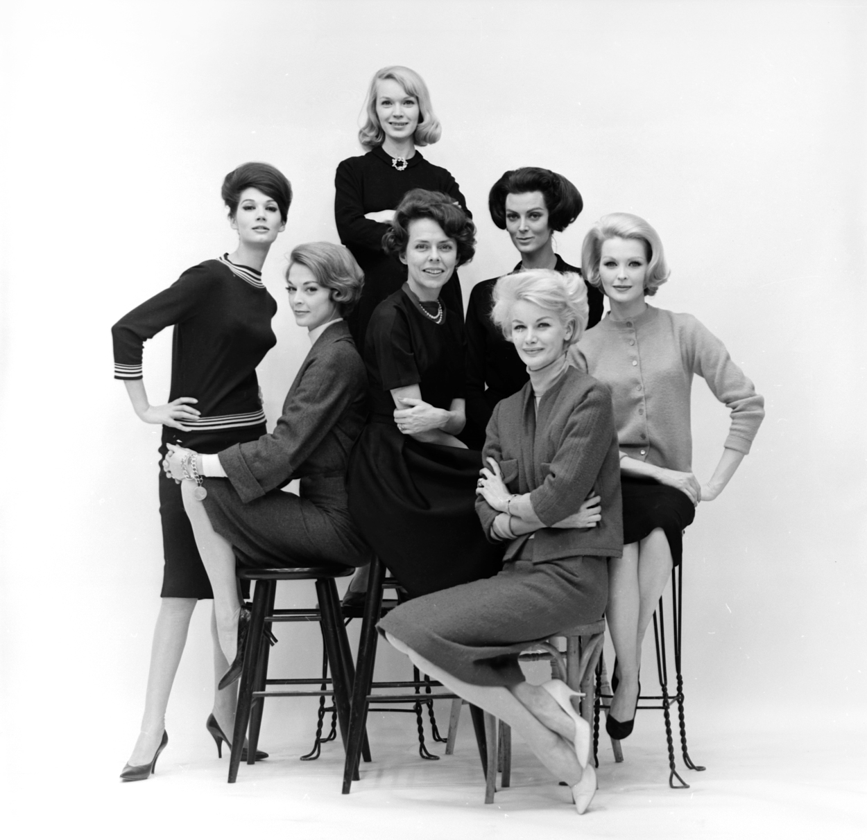 Eileen Ford and her models, 1961