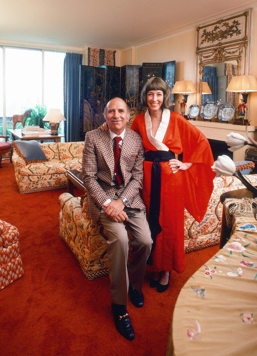 David Brown and Helen Gurley Brown, 1976