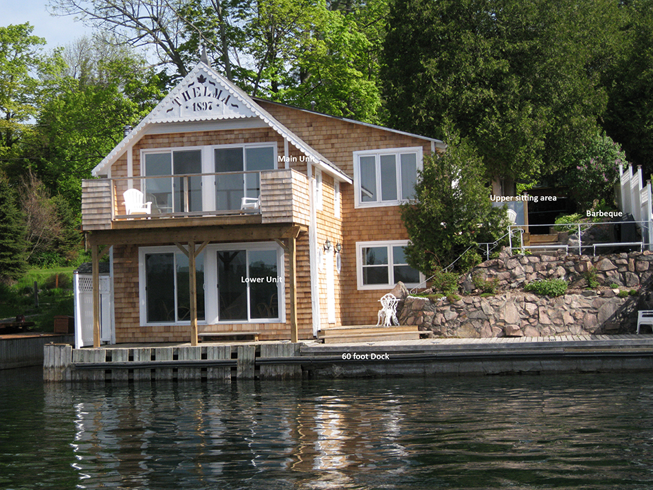 Thelma cottage rental from the water