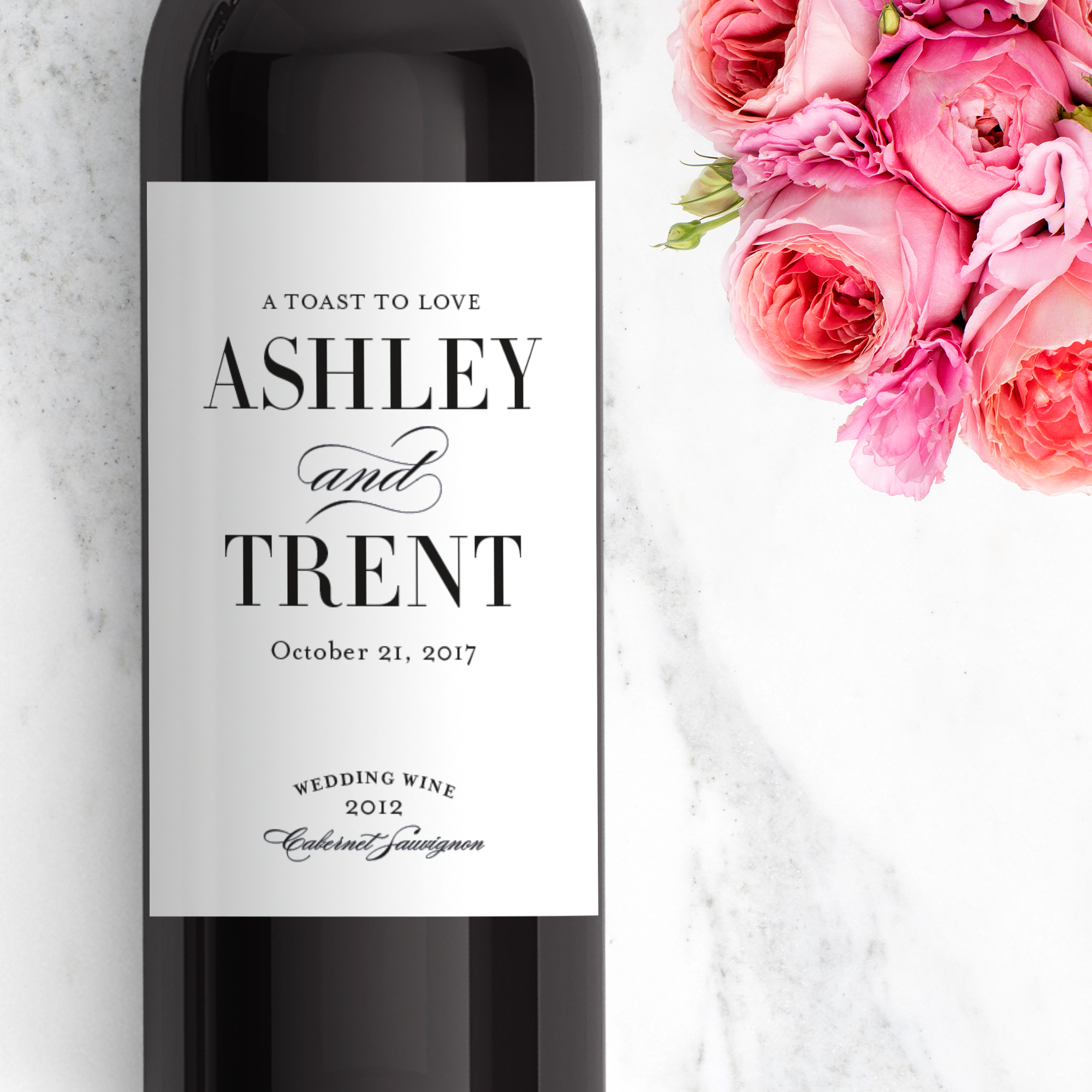 Wedding Wine Labels - by www.labelwithlove.com