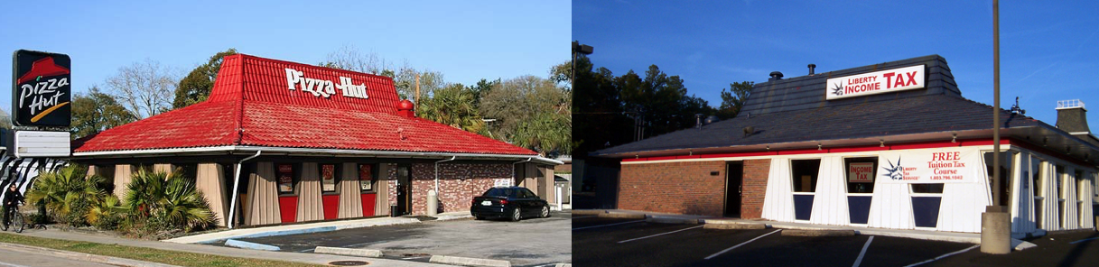This Liberty Tax building is one of our local examples in Cayce, SC.