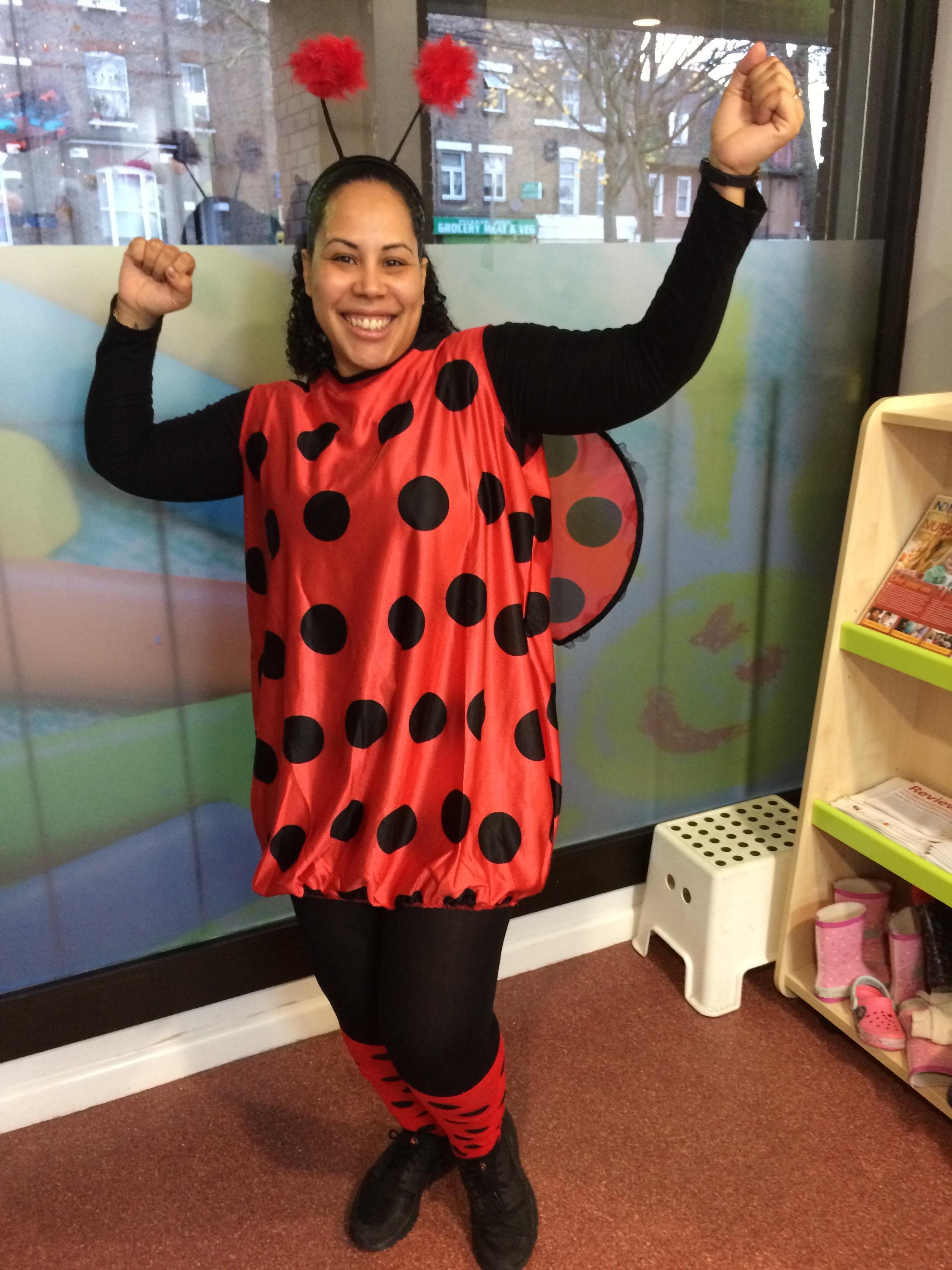 Natasha makes a great ladybug!