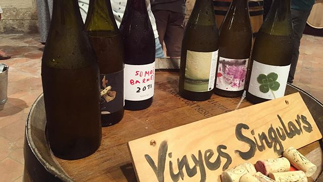 Our visit with @vinyes_singulars was a great introduction to the Alt Penedes. Xarello (red and white) Parellada, Macabeo, Sumoll, Garnacha, single vineyards, old and recovered vines, calcareous clay, anfora, subterranean tanks, chestnut barrels, and lots of history.  #penedes #altpenedes #xarello #macabeo #parellada #sumoll #anforawine #winemaker #wineculture #winelife