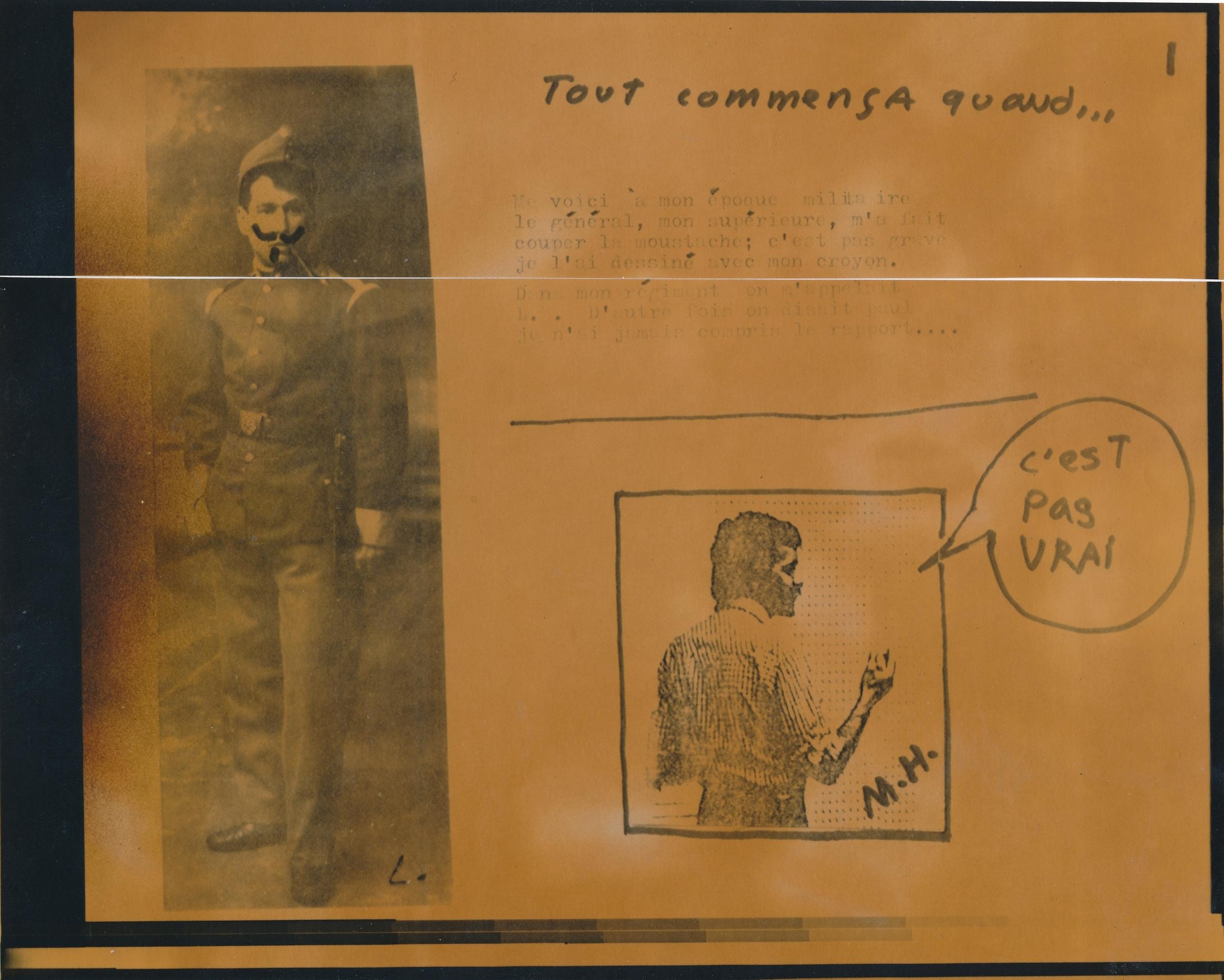 Document passé dans la machine photolaser. /  © Daniel Dugas 1982