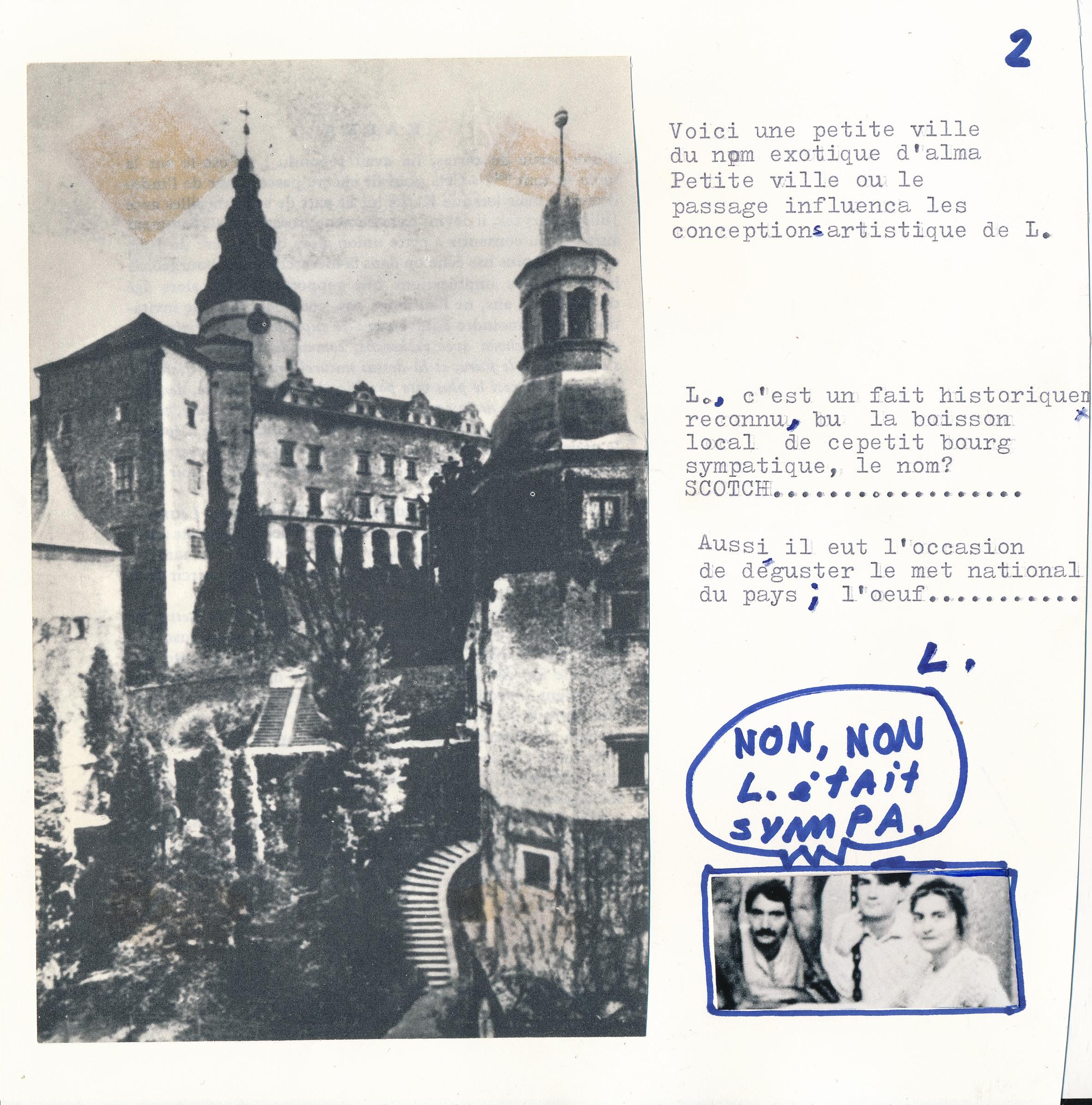 Document original. /  © Daniel Dugas 1982
